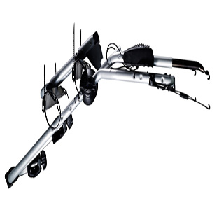 thule clipon high rear mounted 2 cycle carrier 9105 ebay. Black Bedroom Furniture Sets. Home Design Ideas
