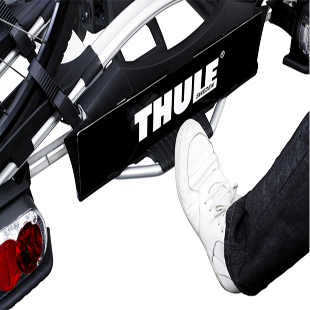 thule euroway g2 towbar mounted 3 cycle carrier 923 ebay. Black Bedroom Furniture Sets. Home Design Ideas