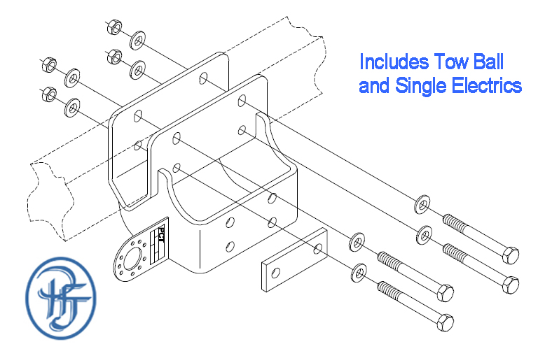 toyota hilux towbar fitting instructions