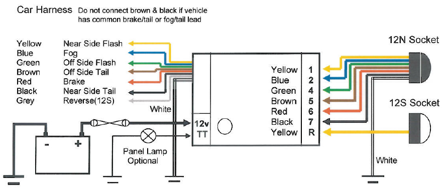 Bypass Relay Wiring Diagram : Universal teb as bypass relay towing electrics towbar