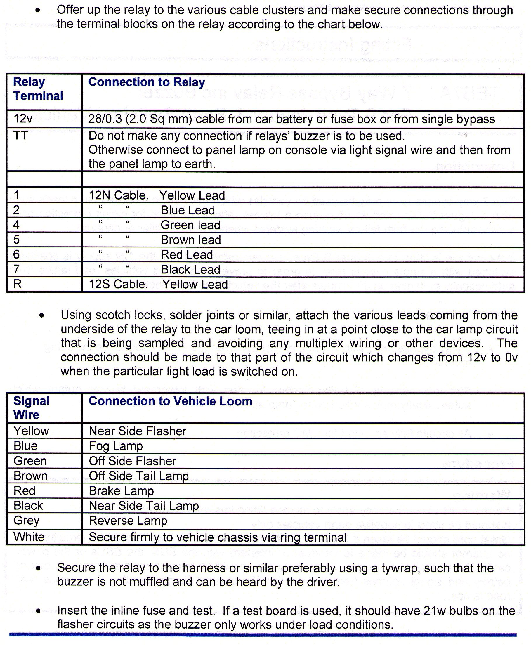 7 Way Bypass Relay Towing Electrics Towbar Wiring For Jaguar S 2002 Type Fuse Box Fitting Instructions Page 2